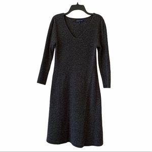 Jones New York 3/4 Sleeve Sweater Dress - Gray S